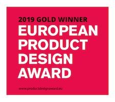 European product design award 2019 Gold winner